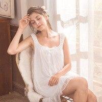 Sleeveless Night Dress Women Summer Modal Lining Soft Mesh Nightgown Sleepwear Cotton Nightie Ladies Nightdress Sleeping Clothes