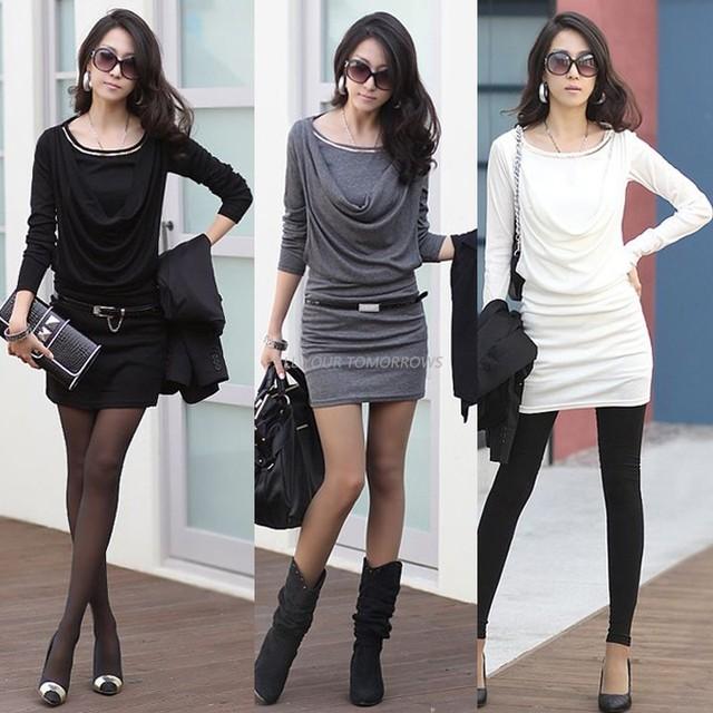 Aliexpress.com : Buy Fashion Autumn Winter Women Dress Casual Long ...