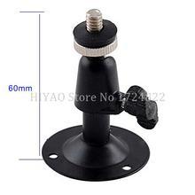 Livraison gratuite Mini support mural noir ou support pour accessoires de montage de caméra CCTV