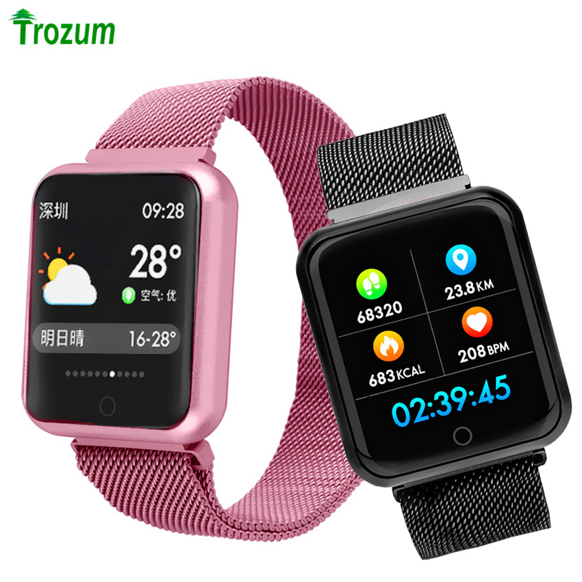 Aliexpress.com : Buy F68 SmartWatch 38mm Color Screen Bluetooth Sport Band Milanese Metal strap