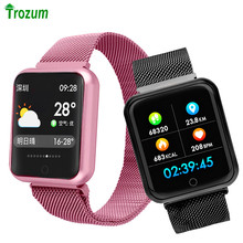F68 SmartWatch 38mm Coloration Display screen Bluetooth Sport Band Milanese Metallic strap Sensible Bracelet look ahead to Apple IPhone IOS Android