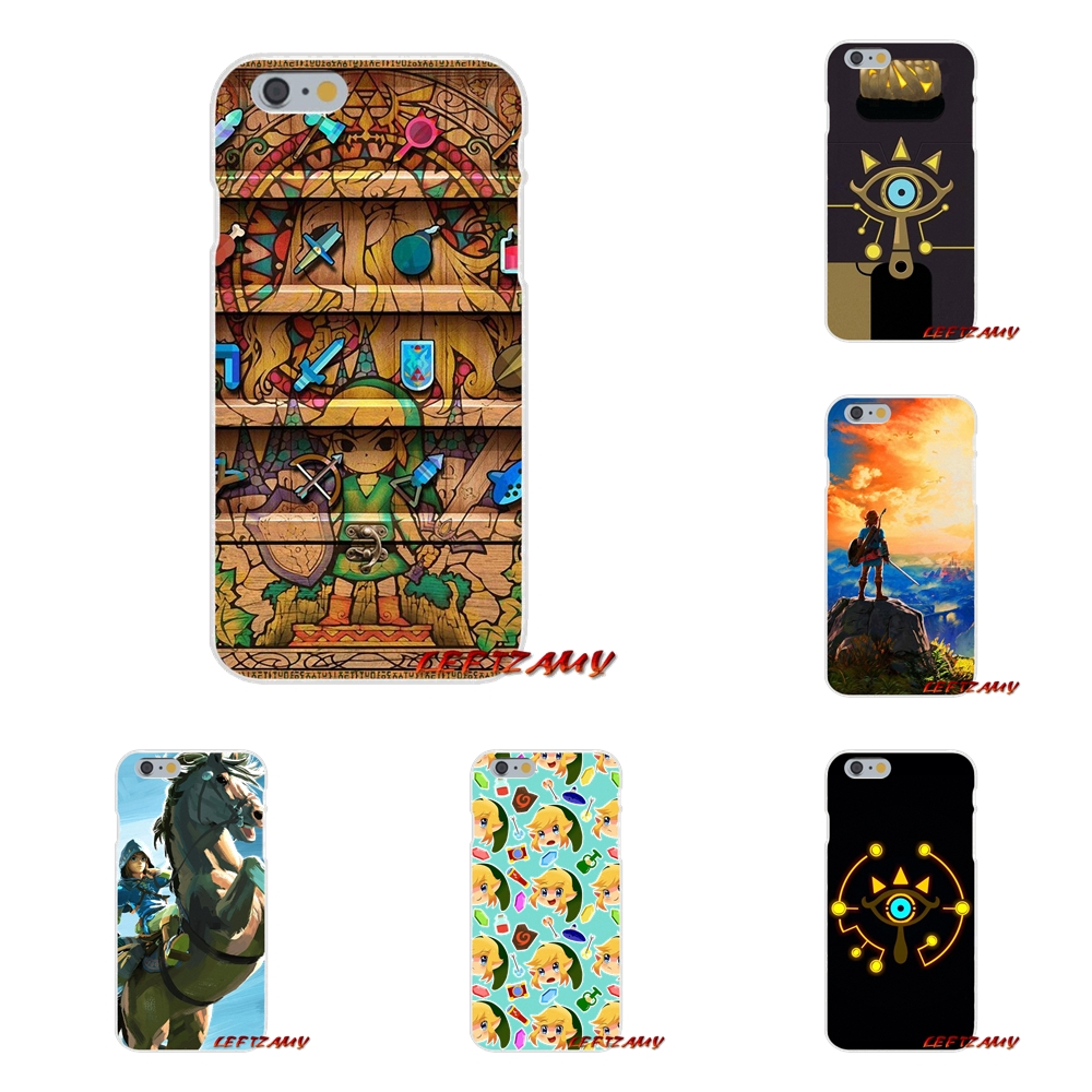 pretty nice 9e3f4 810f8 US $0.99 |the legend of zelda sheikah slate For iPhone X 4 4S 5 5S 5C SE 6  6S 7 8 Plus Accessories Phone Cases Covers-in Half-wrapped Case from ...
