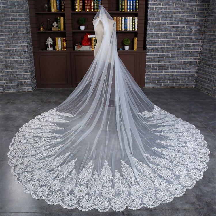 3M Super Long White Flower Crocheted Wedding Accessory Luxury Korea ...