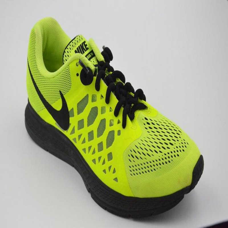 أربطة حذاء عالية المرونة مرنة لا أربطة أربطة أربطة حذاء من السيليكون الصلب جلد للنساء الأطفال الرجال حذاء رياضي أربطة حذاء مطاطية