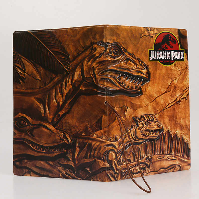 Jurassic Park Dinosaurs Travel Documents Holders 14*9.6cm Fashion Cartoon Passport Covers 3D Design Waterproof Certificate Cases