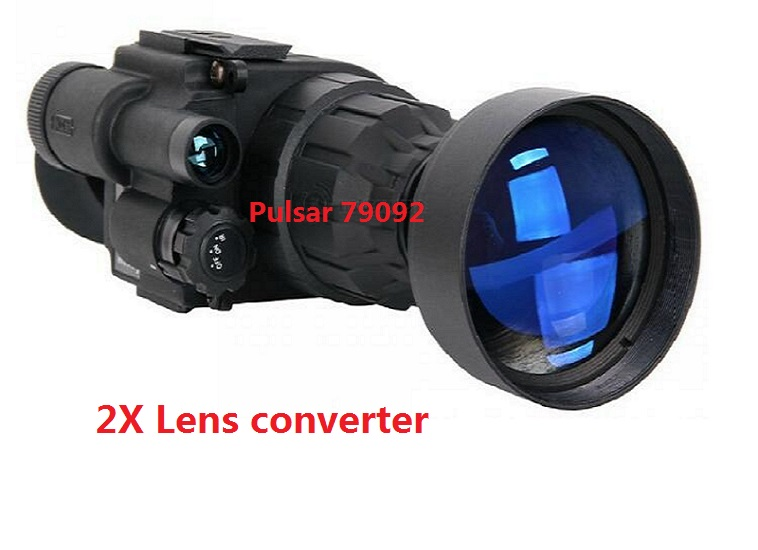 High quality Challenger GS 1x20  Lens Converter Pulsar 79092 Magnification 2X increases optical magnification free shipping pulsar 79097 nv60 1 5x lens converter pulsar nv 60mm used on pulsar night vision riflescopes with a 60 mm objective lens