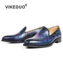 купить Vikeduo 2019 Handmade Designer Fashion Brand Leisure Party Wedding Male Casual Shoe Genuine Leather Men's Loafers Dress Shoes по цене 14541.84 рублей