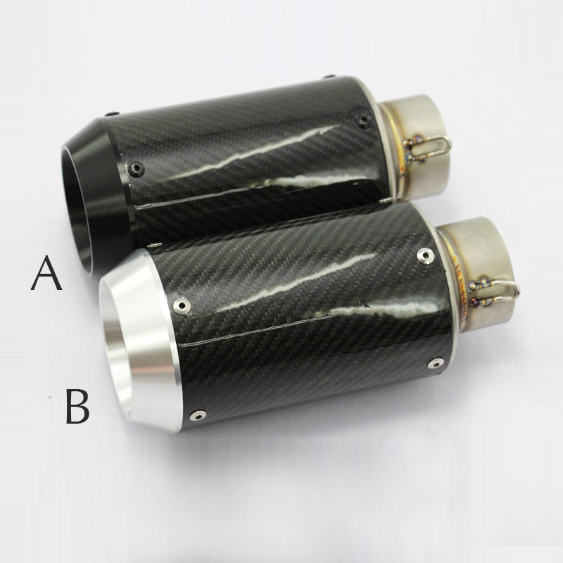 Inlet 60mm AR Motorcycle Exhaust Pipe Muffler For BMW S1000R KTM200 R1 CBR650F BN300 BN600 MT07 CNC Carbon Fiber Silencer Escape