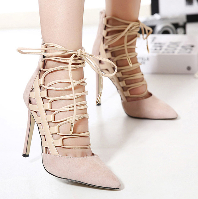 Aliexpress.com : Buy 2016 Brand New Style Lace Up Cutouts Pointed