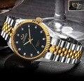 Homem Mulher Ouro Prata à prova d' água Relógio Casual Luxury Marca CHENXI Completa Steel Band Quartz Vestido relógios de Pulso do Presente do Amante relógio