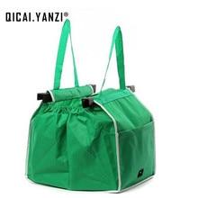Qicai. yanzi большой клип-корзину Портативный мешок 2017 Дамы Эко многоразовые сумки мягкие складные сумки Бакалея сумки R176