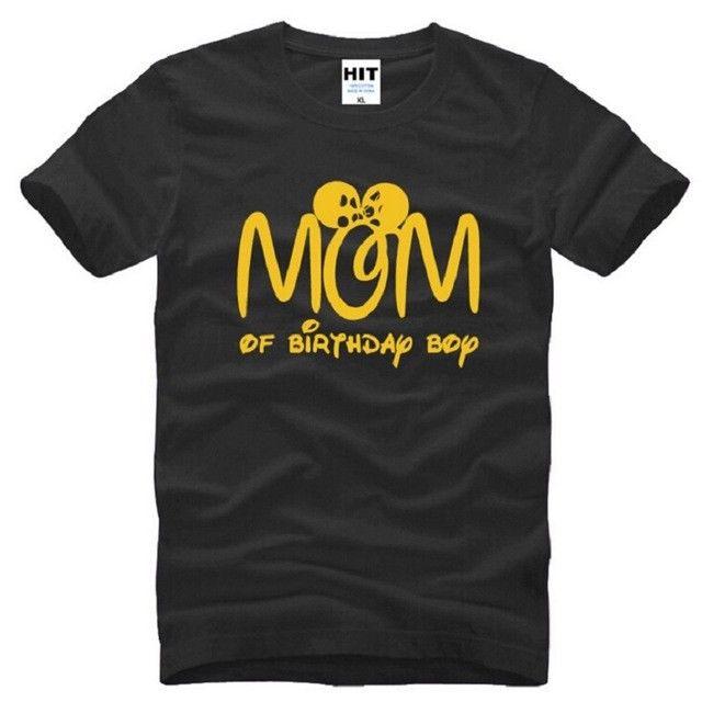 Мама именинника черный короткий рукав Для мужчин футболка Размеры S-3XL печатных футболки короткий рукав Hipster Tee