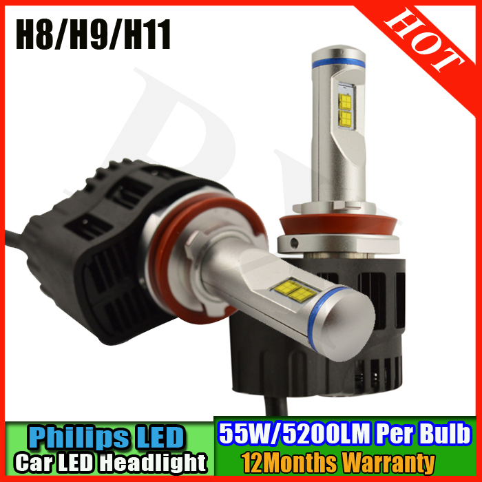 2016 New 10400LM 110W H11 Car LED Headlight conversion kit 3000K 4000K 5000K 6000K light lamp bulbs car driving lamps 2pcs d1 d2 d3 d4 d2s d2r d2c d4 car led headlight conversion kit 110w 10400lm 6000k white light bulbs