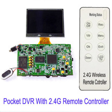 SD card DVR Digital Video Recorder Boards with 2.4G Hz witeless control for Surveillance Security(NOT INCLUDED LCD)
