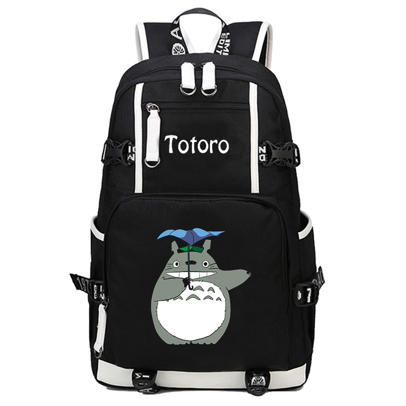 New Japanese Anime Totoro Backpack School Bags Bookbag Cosplay Cartoon Unisex Shoulder Laptop Travel Bags 2017 new vocaloid hatsune miku luminous backpack cosplay anime student school bag bookbag travel shoulder laptop bags packsack