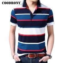 b98f265a00dc94a COODRONY хлопковая Футболка мужская одежда 2019 весна лето Повседневная  футболка с коротким рукавом Мужская Англия Стиль