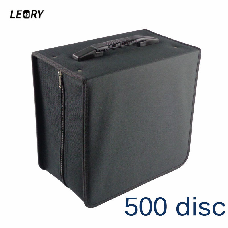 LEROY Portable 500Disc CD DVD Wallet Holder High Capacity Storage Case Bag Album Collect Record Collection Wallet Media Storage 1pcs 40 disc cd dvd case storage holder carry case organizer sleeve wallet cover bag box cd dvd holder dj storage cover