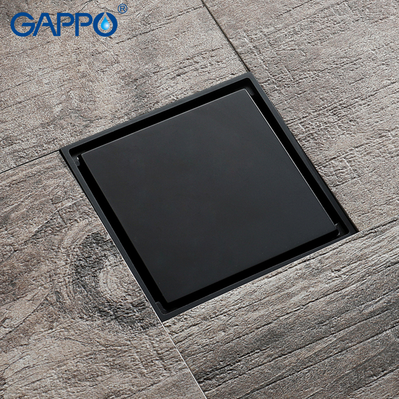 цена на GAPPO Drains square bathroom shower drain strainer anti-odor bath shower floor drains bathroom square floor drains