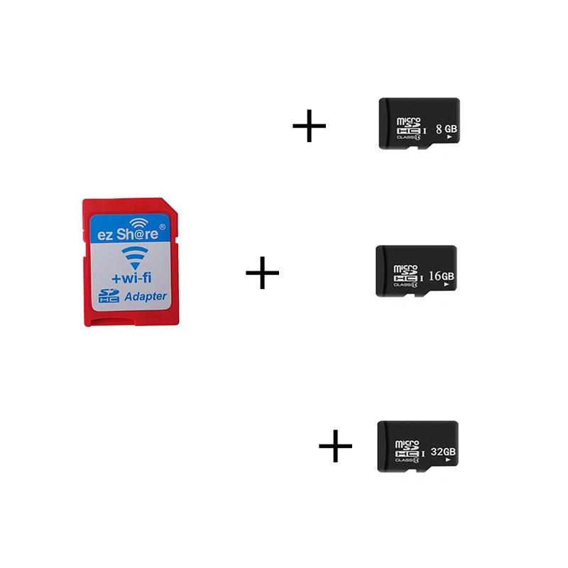 Free shipping ezshare EZ share micro sd adapter wifi wireless 8G 16G 32G memory card TF MicroSD adapter WiFi SD card free ride