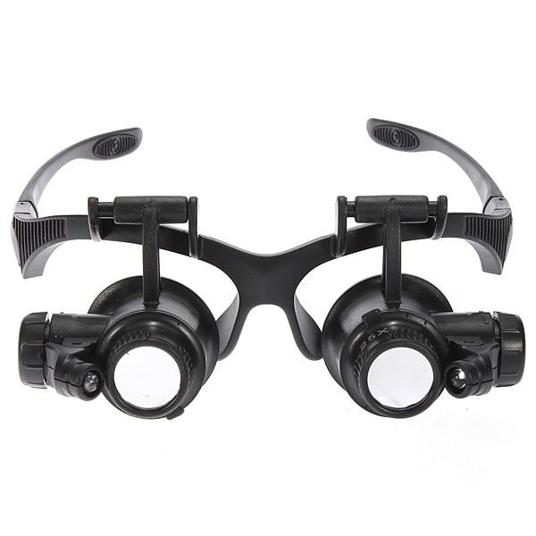91ef9117732e0 NOVO 8 Lense 10X 15X 20X 25X LED Lupa Lupa Eye lente de Vidro Joalheiro Lupa  Lupa Repair Ampliação baterias 16mm Headband em Lupas de Ferramentas no ...