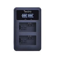 Tectra NP FW50 NP FW50 LED Display USB Digital Charger For Sony Camera BC VW1 BC