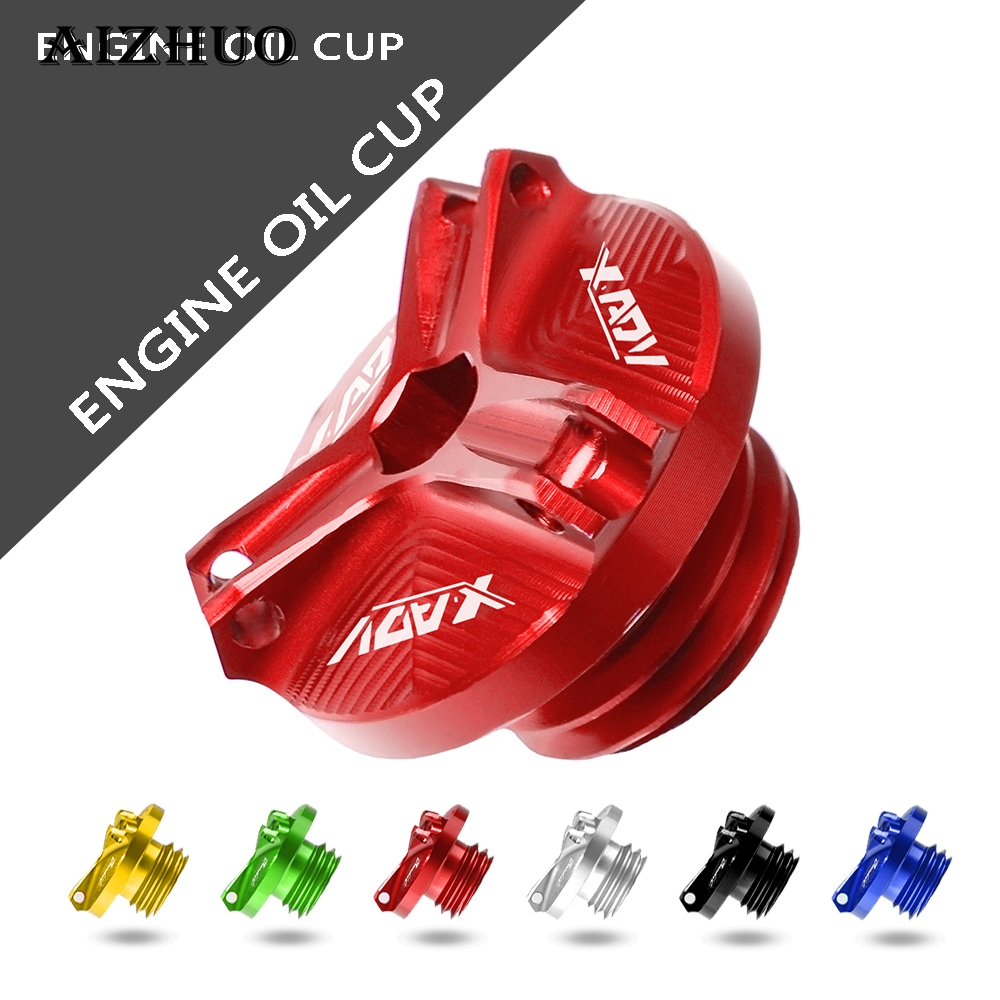 Motorcycle Accessories Parts Fixed Engine Oil CUP Filler Cover Drain Plug Sump Reservoir For HONDA X-ADV 750 XADV750 2017-2018