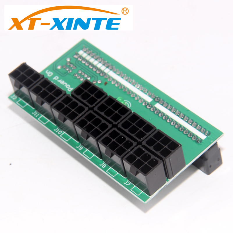 XT-XINTE 10*6Pin Power Supply Breakout Adapter Board For DPS-1200FB PS-2751-5Q support 1600W Ethereum Mining ETH ZEC F21759 good working original used for lcd 46lx830a dps 143bp runtka790wjqz dps 127bp 46inch power supply board