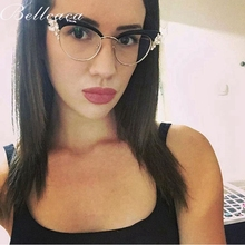 Bellacaca Optical Eyeglasses Women Fashion Prescription Spectacles Glasses Frames Round Transparent Clear Lens Eyewear BC819