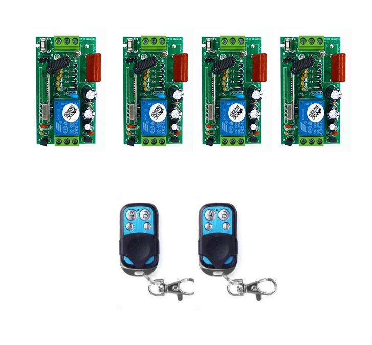 AC 220 V 1CH 10A RF Wireless Remote Control Relay Switch Security System Garage Doors shutters window ON OFF