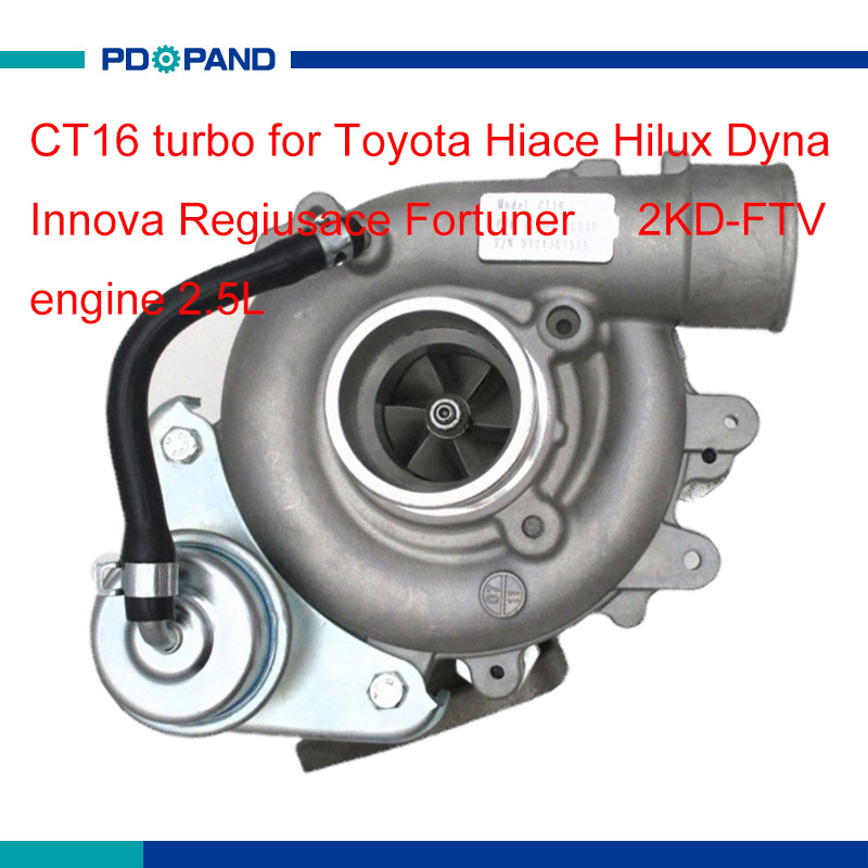 turbo kit CT16 turbo charger part for Toyota Hiace Hilux Dyna Regiusace Fortuner 2.5L 2KD FTV engine 17201 0L030 17201 30120 part     - title=