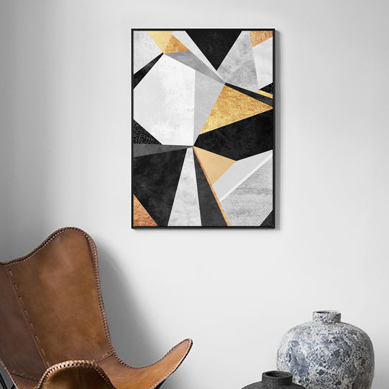 Modern Canvas Art Poster Print Geometric Painting Nordic Style Whale Wall Art Picture for Living Room Home Decor in Painting Calligraphy from Home Garden