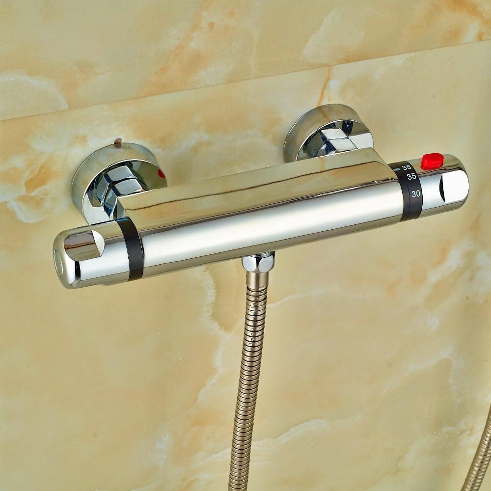 Brass bathroom fittings - Europ Design Brass Chrome Polish Mixer Body Bathroom Thermostatic Shower Fittings China Mainland