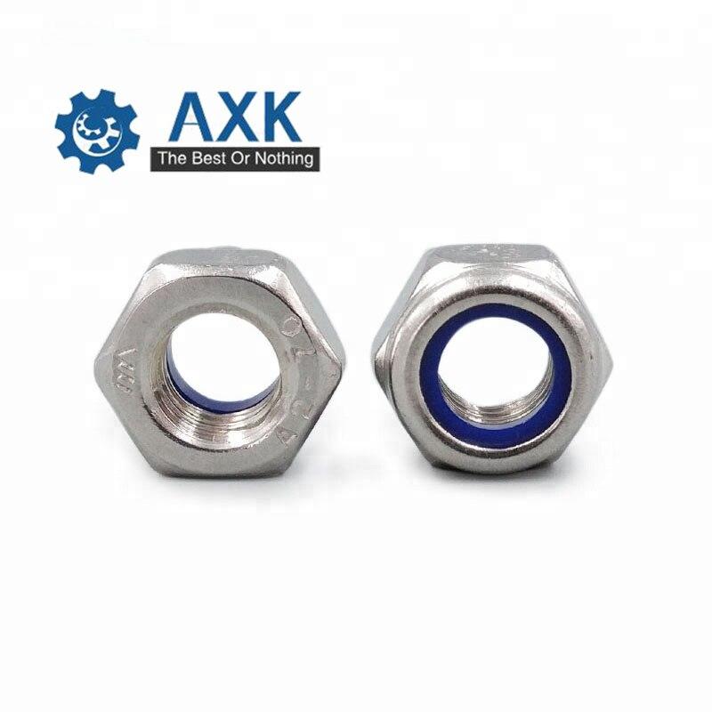 Size : M4 25pcs Screws 2//5//25pcs M2 M2.5 M3 M4 M5 M6 M8 M10 M12 M16 304 Stainless Steel Black Hex Nylon Insert Lock Nut Self-Locking Nylock Nut Locknut Fasteners