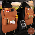 For Ford focus 2 3 mondeo Fiesta f150 black grey red single Multi plush Pocket Storage Hanger Back Car Seat Cover Organizer Bag