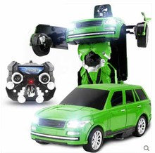 Kingtoy Child USB Charging RC Deformed Car Robot Flash Changeable Robot Toy