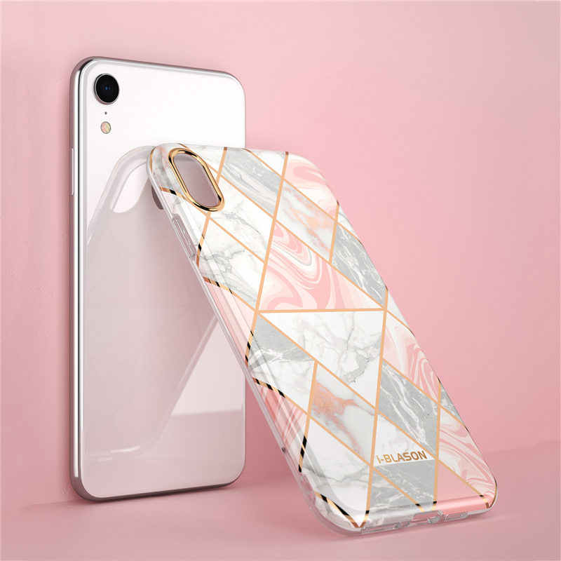 new style a0f21 8a009 For iphone XR Case i-Blason Cosmo Lite Stylish Hybrid Premium Protective  Slim Bumper Marble Back Cover with Camera Protection