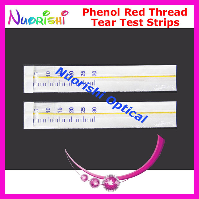 J2 100 Strips 50 Pairs Phenol Red Thread Eye Tear Test Strips