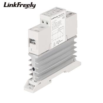 цена на TRA23D25L 25A DC AC Heat Sink Solid State Relay Din Rail SSR 3V 5V 12V 24V DC Input 24-280VAC Output Voltage Control Relay Board