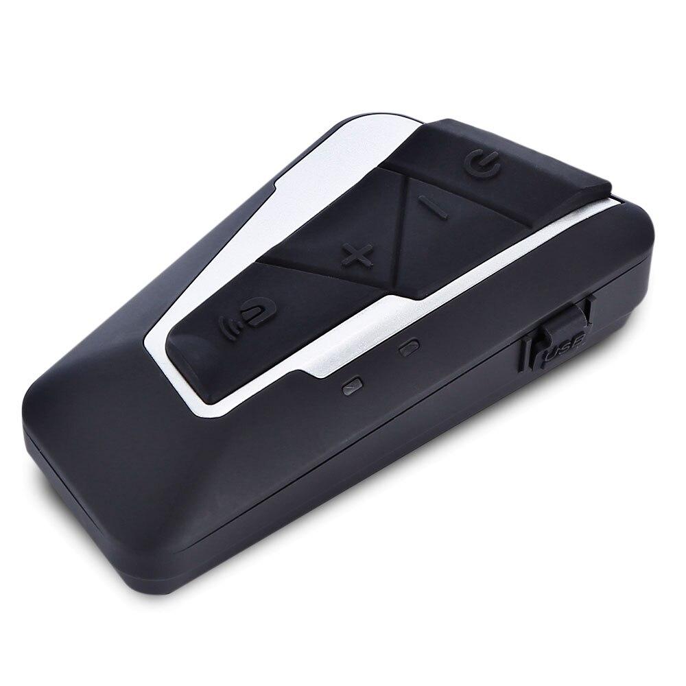 1200 M Étanche Bluetooth 3.0 Interphone pour Moto Casque Casque Interphone pour 2 Coureurs FM Musique 15 Heures de Temps De Travail