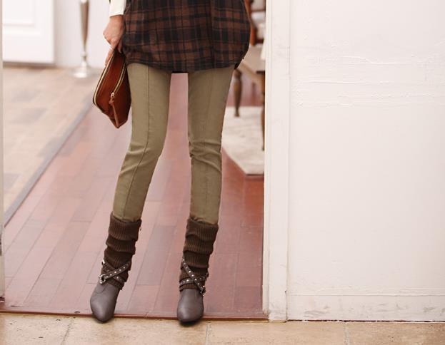 Female Winter Plus Size Plus Velvet Thicken Pencil Pants Women Autumn Mid Stretch Warm Legging Trousers Lady Oversized Warm Pant
