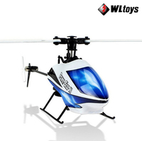 Free Shipping WL V966 V977 RC Helicopter 2.4G 6CH 3D RC Helicopter Power Star 1 Flybarless RTF Single Blade RC Helicopter