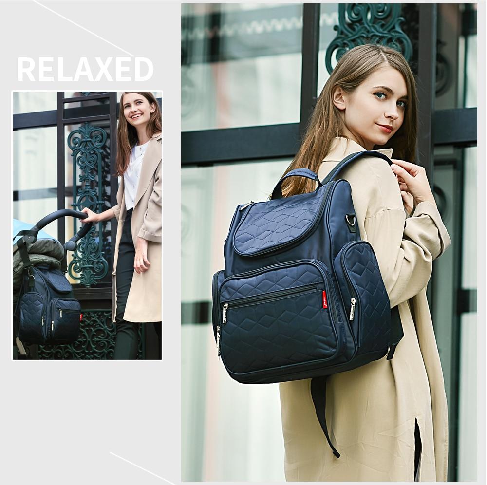 Купить с кэшбэком insular Brand Mother Nappy Bags Stylish Mummy Travel Backpack Diaper Bag Large capacity Lattice Sstyle Baby Stroller Bag