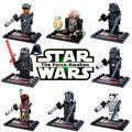 Nuevo 8 unids R2D2 Darth Vader Star Wars Bloques Kylo Ren minifig diy juguete figuras de starwars clone compatible con lepine estrella guerras