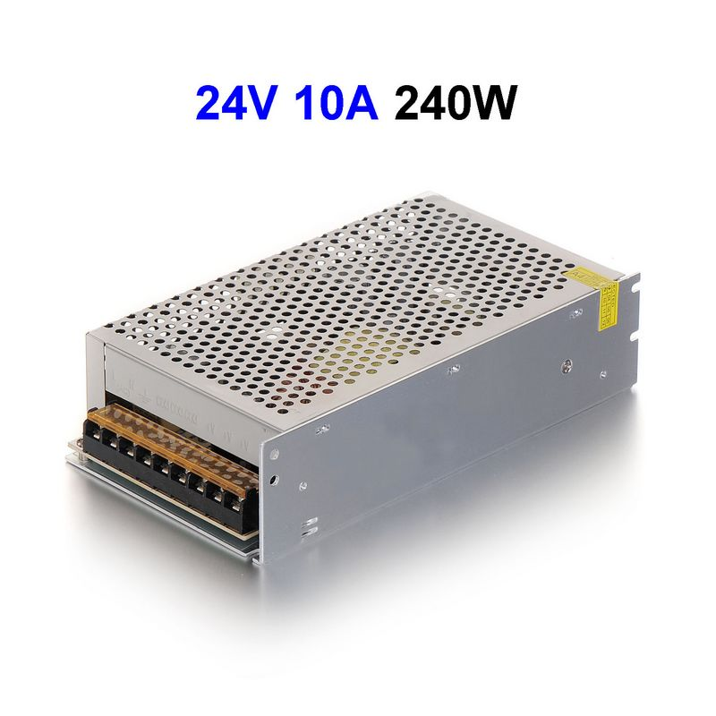 30pcs DC24V 10A 240W Switching Power Supply Adapter Driver Transformer For 5050 5730 5630 3528 LED Rigid Strip Light power supply 24v 800w dc power adapter ac110 220v non waterproof led driver 33a ups for strip lamps wholesale 1pcs