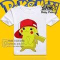 Hipop Estilo Pokemon Ir Niños Pokeball Manera Del Muchacho T-shirt Bebé Ropa de Manga Corta Camiseta Del Verano Del Muchacho Tops Ropa de Algodón