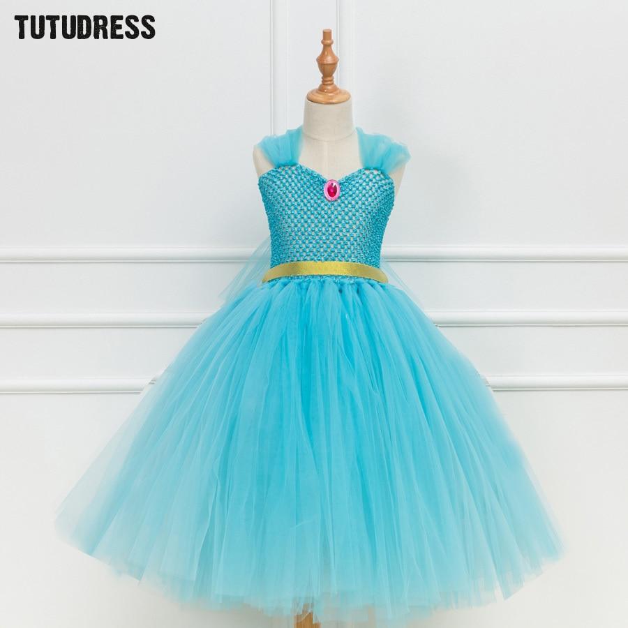 Children Girls Tutu Dress Blue Princess Elsa Dress For Girls ...