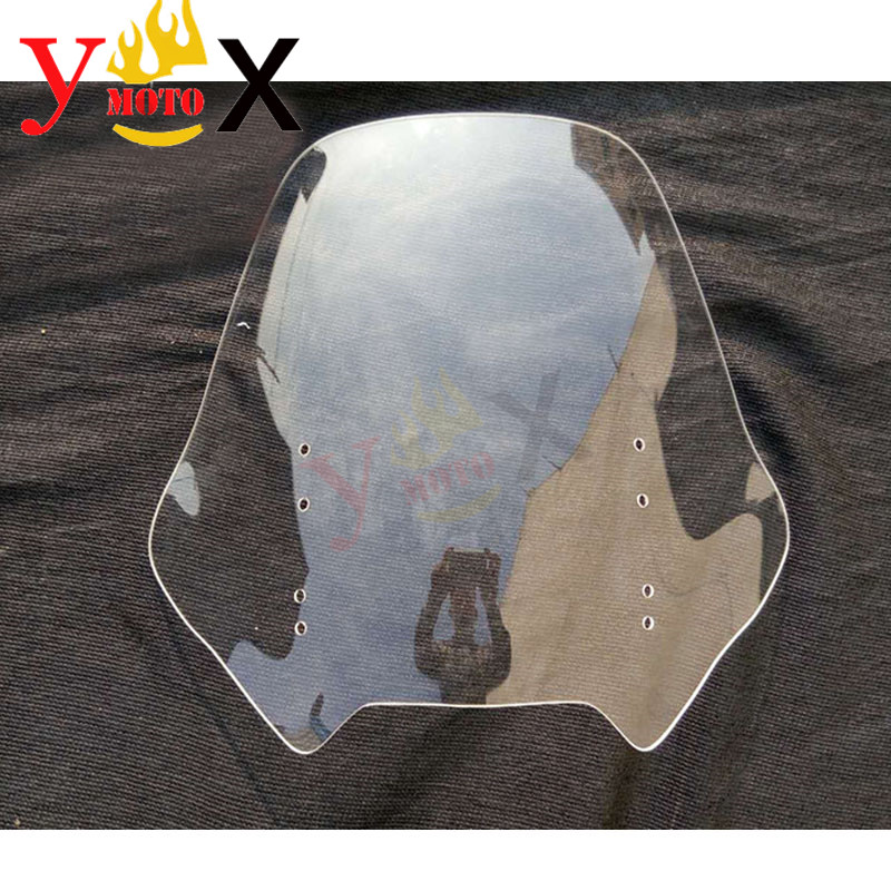 Clear Sport Touring Motorcycle Windscreen Windshield Deflector Airflow For Honda ST1300 Pan European 2002-2013 Standard Higth