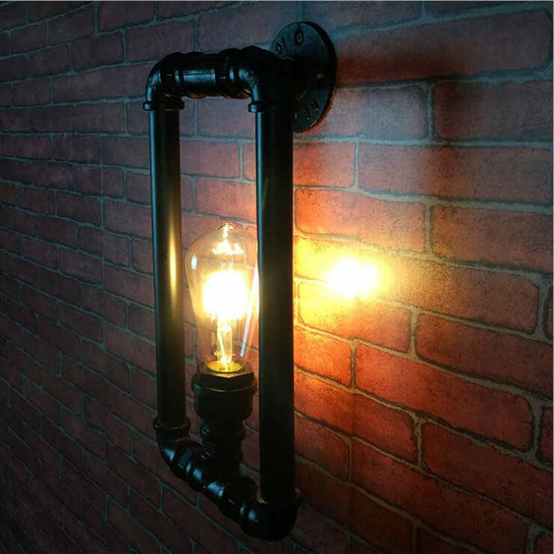 Ретро Лофт, Промышленные ветер настенная лампа бра старинные настенные Крытый настенный светильник Edison E27 свет проход коридора ресторана кафе свет