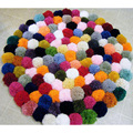 10/50/100Pcs Small Multicolour DIY Decoration Ball 25mm Fur Ball Pompon Home Decor Decorative Flowers Crafts 6ZA107