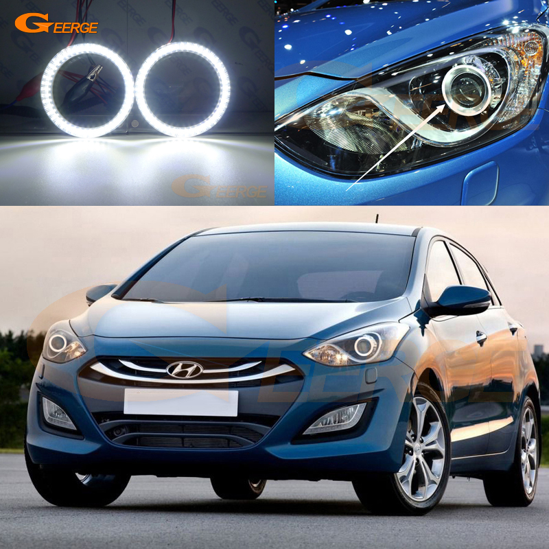 For HYUNDAI I30 GD 2012 2013 2014 2015 2016 Smd Led Angel Eyes Kit Day Light Excellent Ultra Bright Illumination DRL